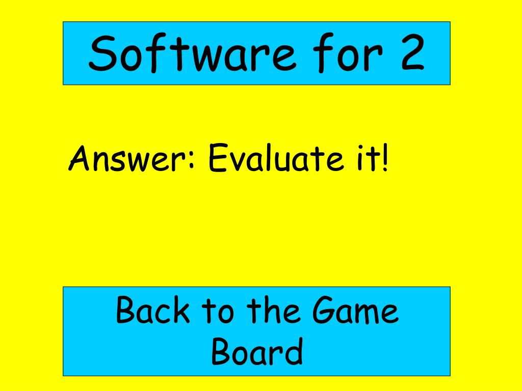 Software for 2