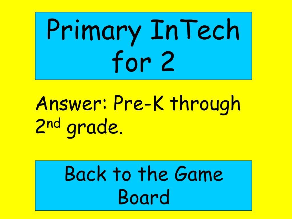 Primary InTech for 2