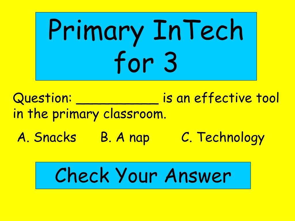 Primary InTech for 3