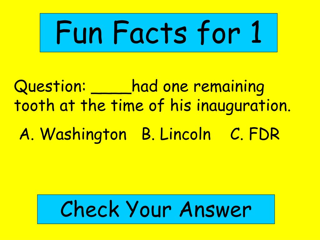 Fun Facts for 1