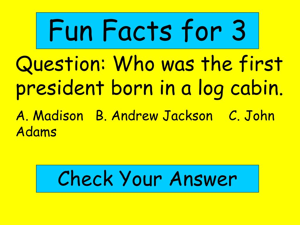 Fun Facts for 3