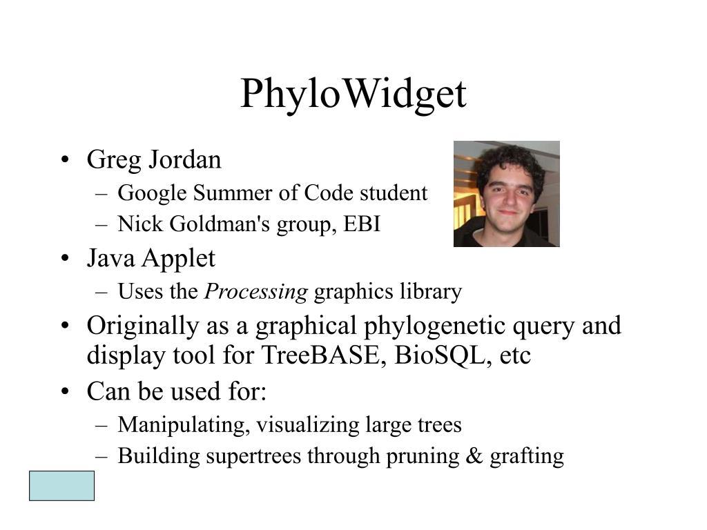 PhyloWidget
