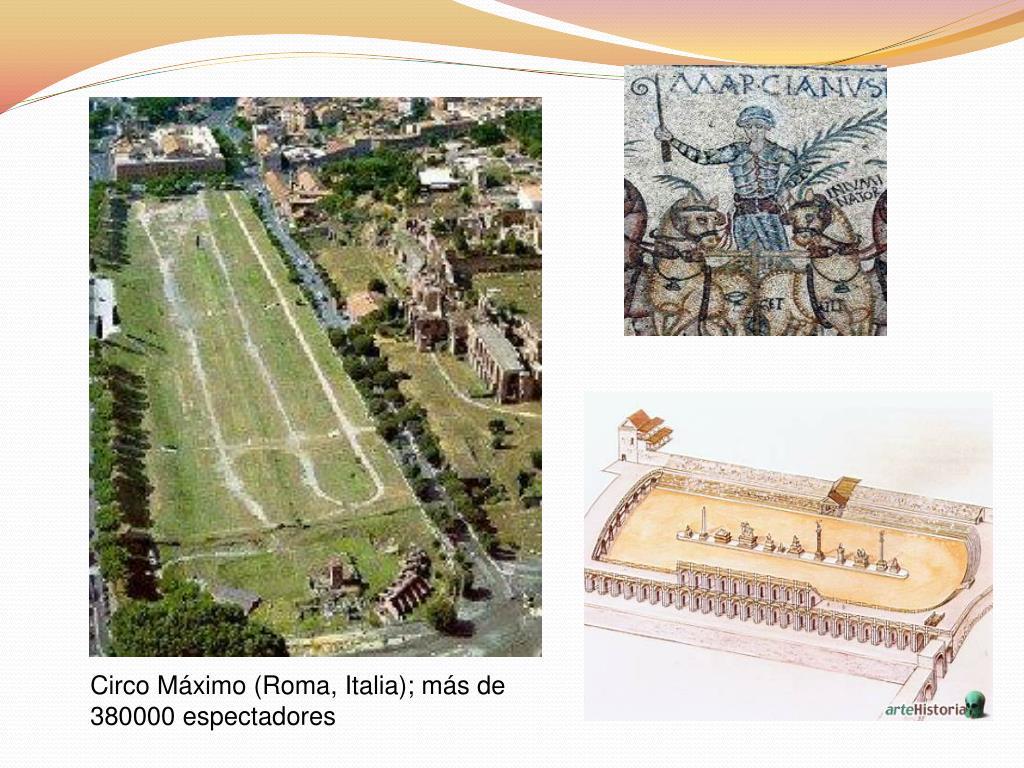 Circo Máximo (Roma, Italia); más de 380000 espectadores