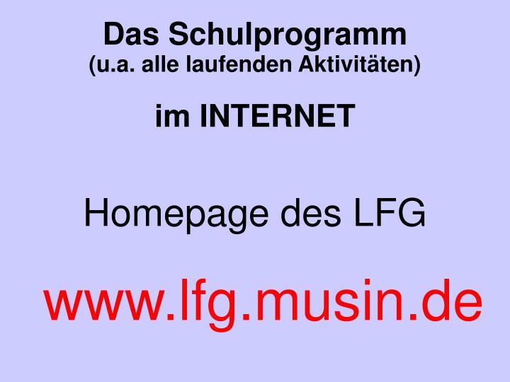 Homepage des LFG