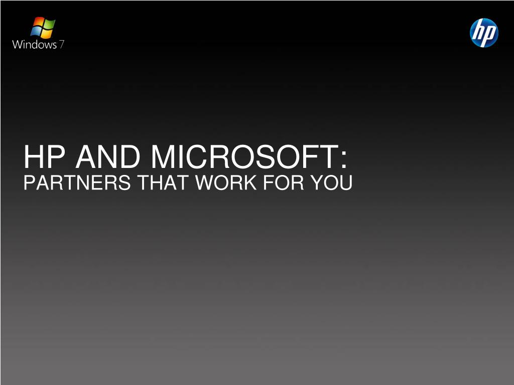 HP AND MICROSOFT: