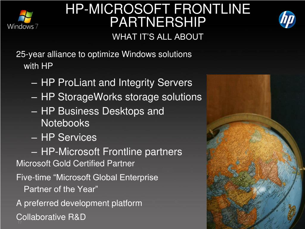 HP-MICROSOFT FRONTLINE PARTNERSHIP