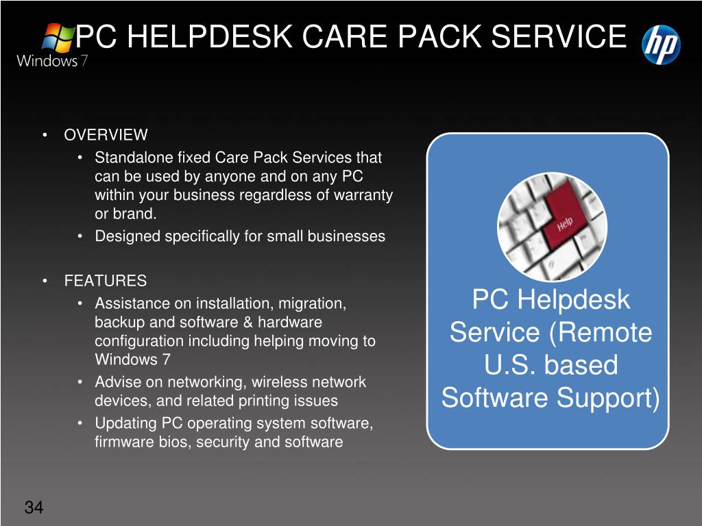 PC Helpdesk Service (Remote U.S. based Software Support)