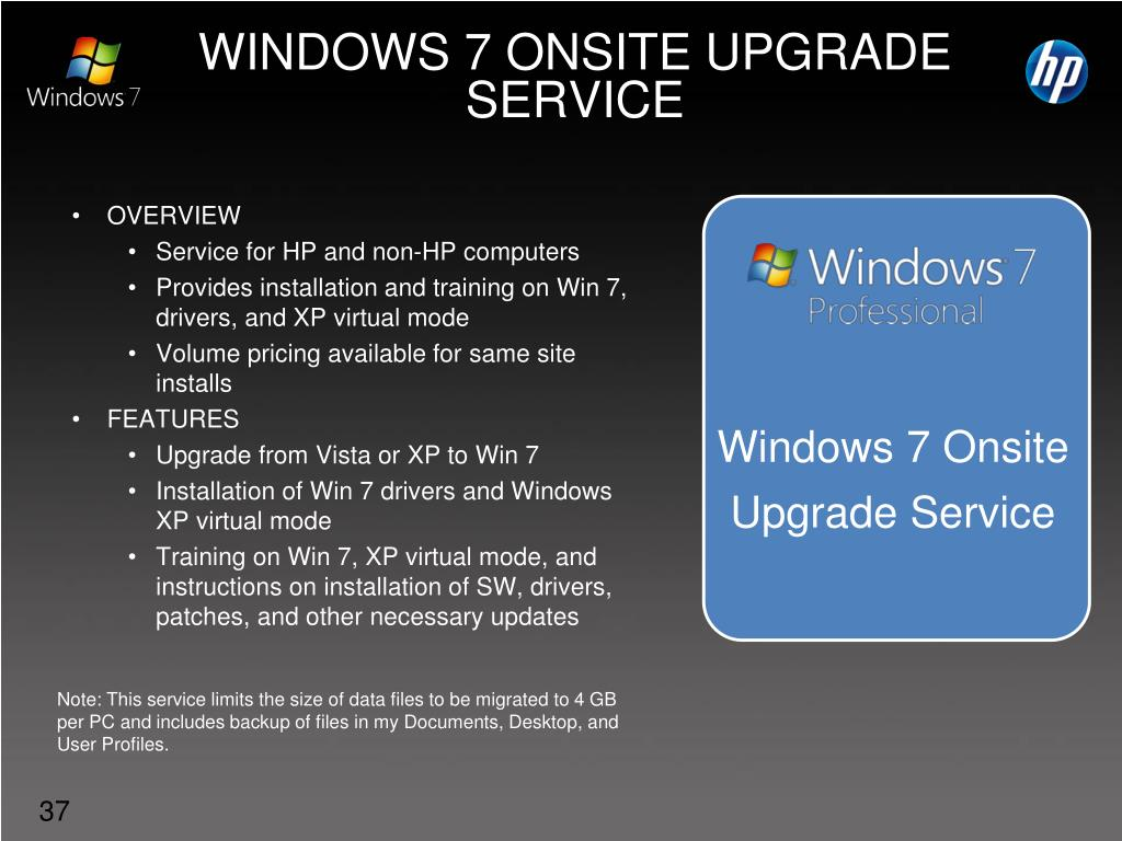 WINDOWS 7 ONSITE UPGRADE SERVICE