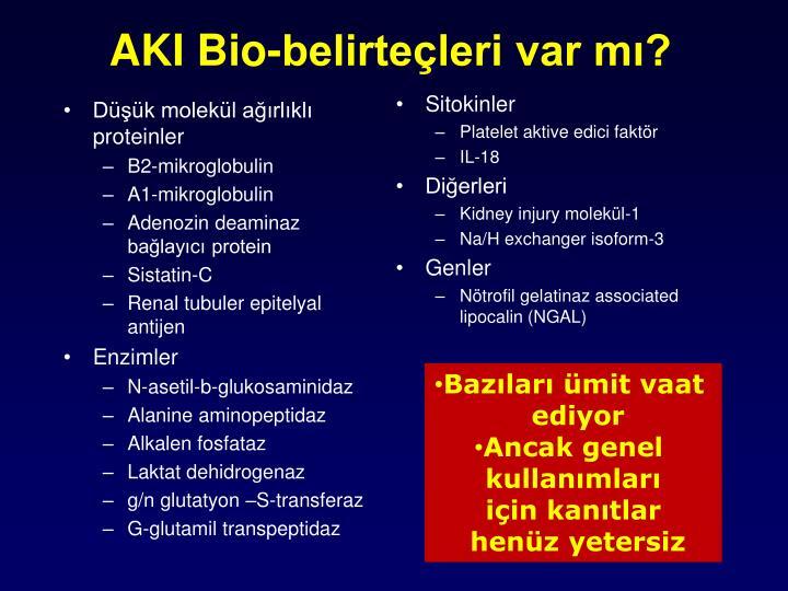 AKI Bio-belirteçleri var mı?