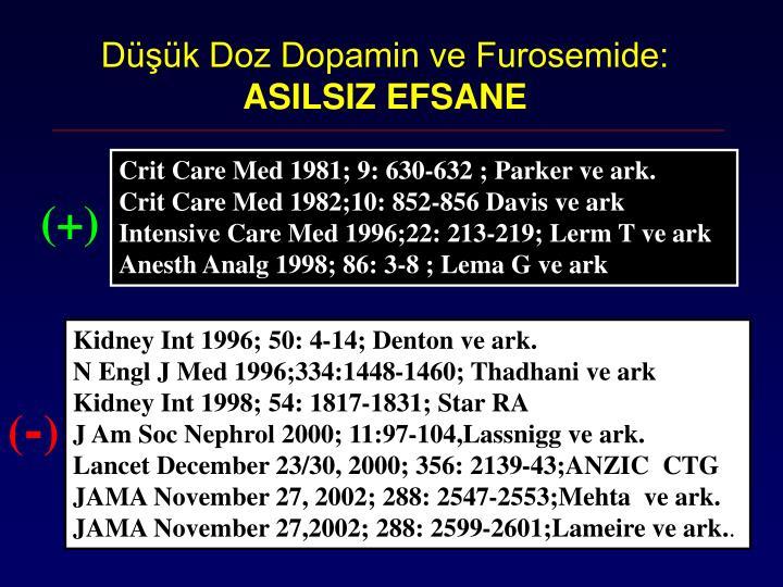 Düşük Doz Dopamin ve Furosemide: