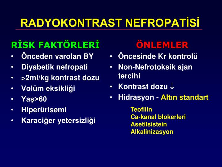 RADYOKONTRAST NEFROPATİSİ