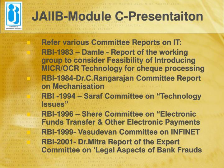 JAIIB-Module C-Presentaiton
