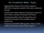 the incubation model stage 2