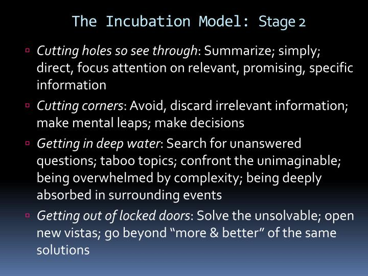 The Incubation
