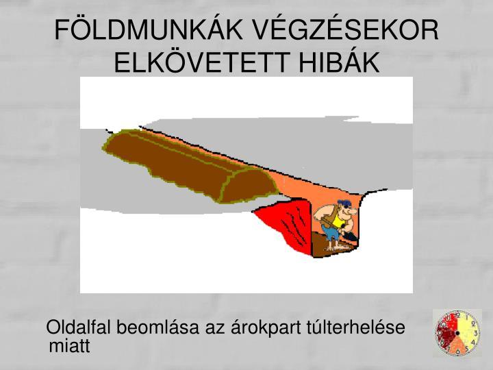 FÖLDMUNKÁK VÉGZÉSEKOR ELKÖVETETT HIBÁK