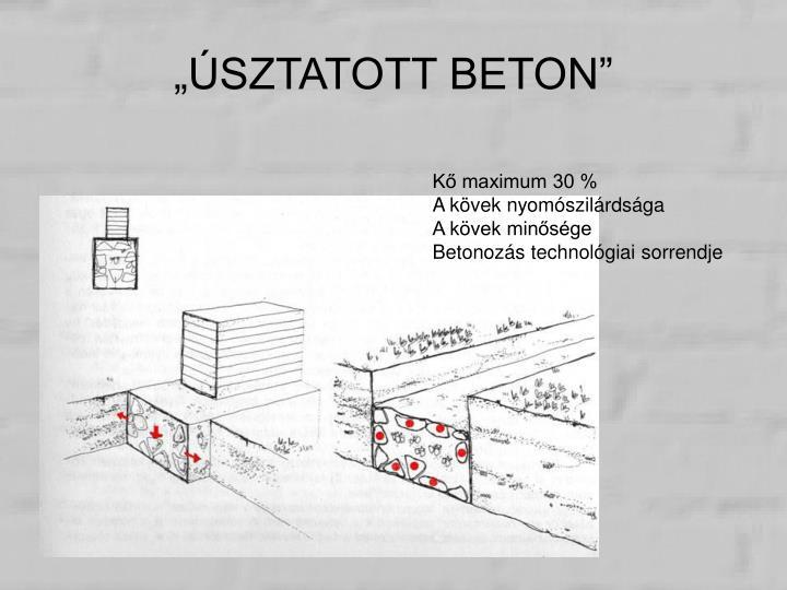 """""""ÚSZTATOTT BETON"""""""
