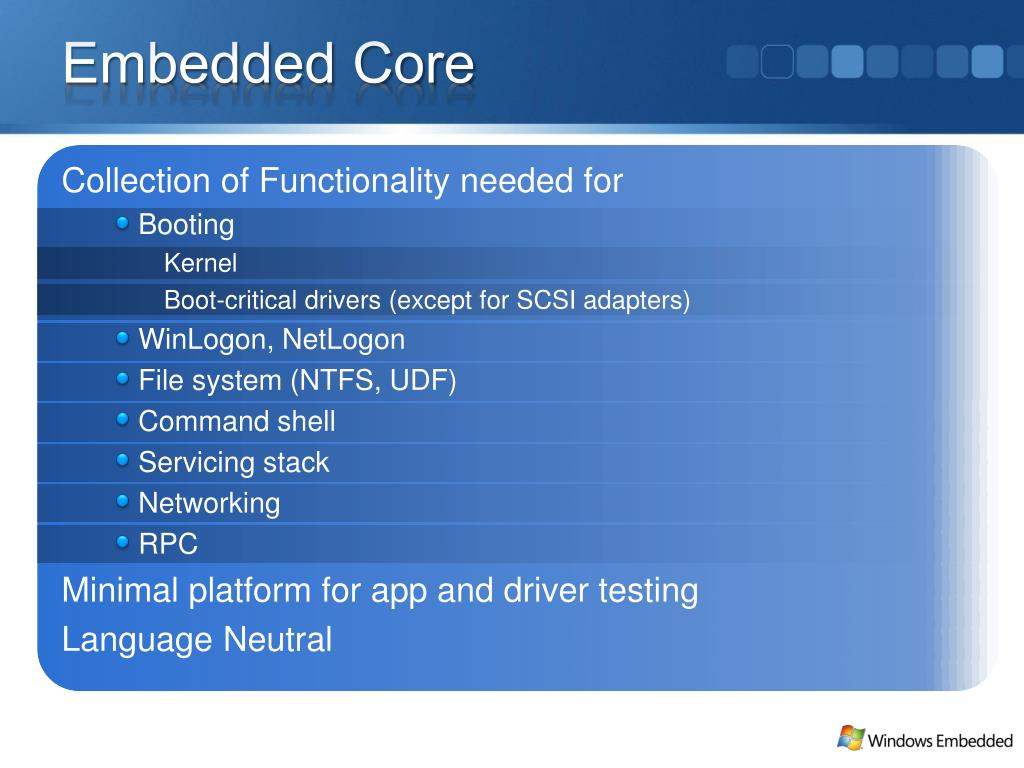 Embedded Core