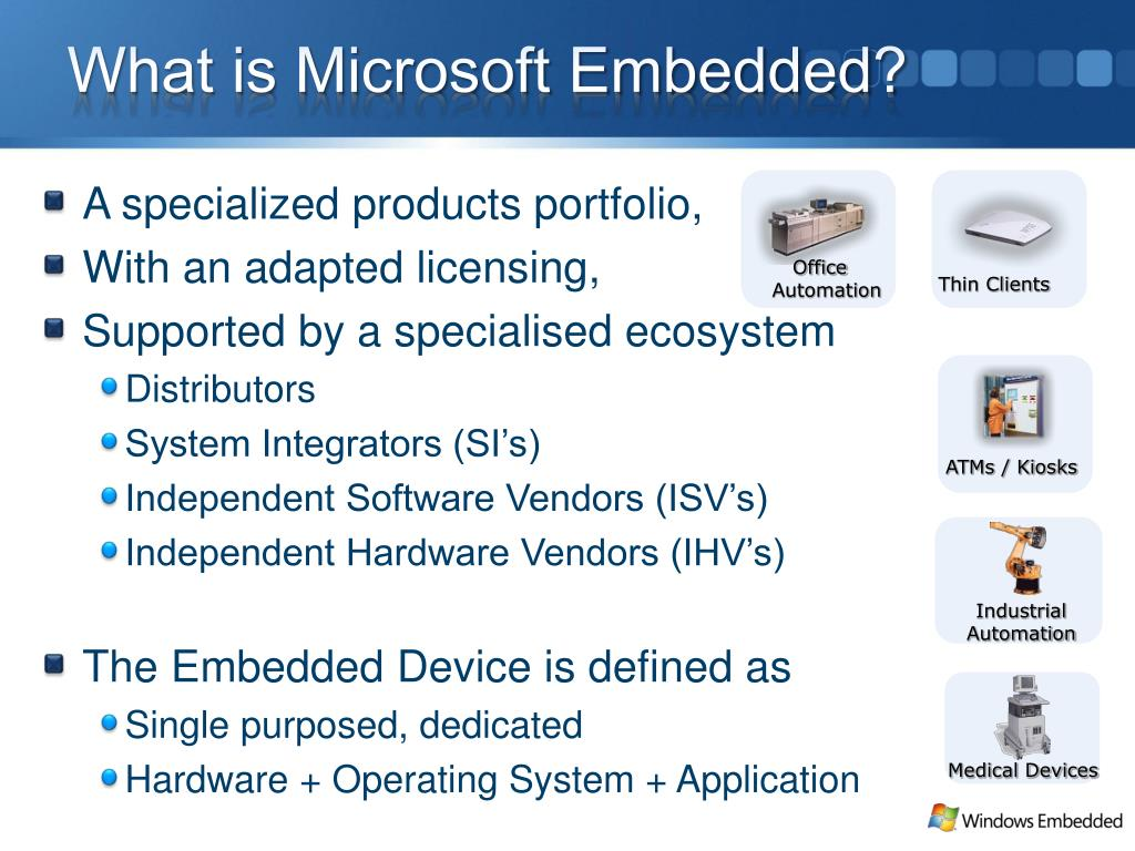 What is Microsoft Embedded?