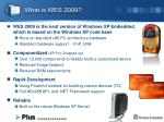 what is wes 2009