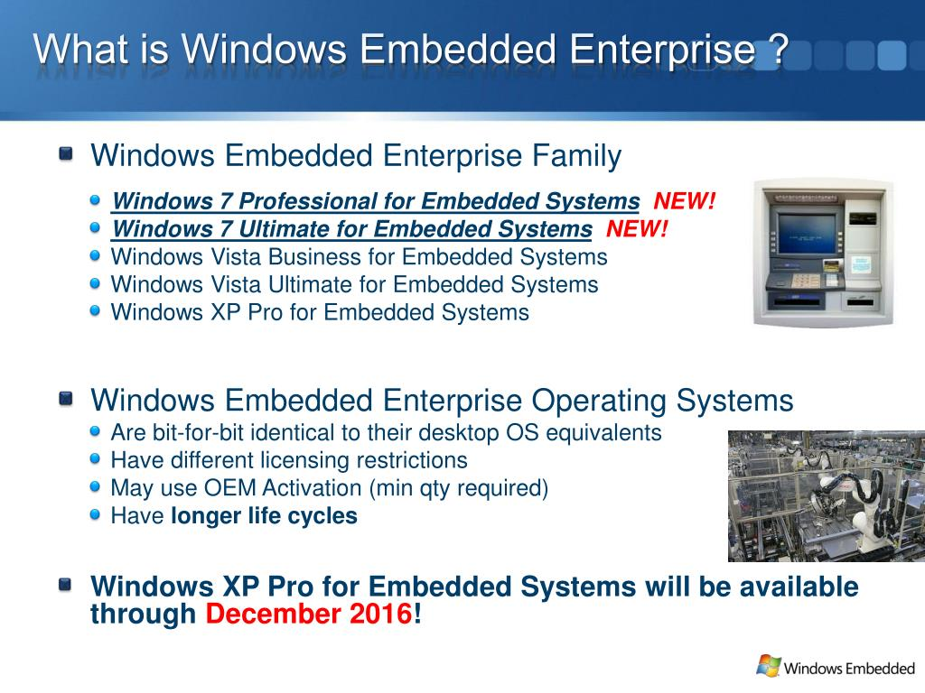 What is Windows Embedded Enterprise