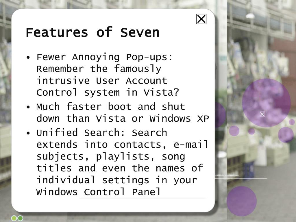 Features of Seven