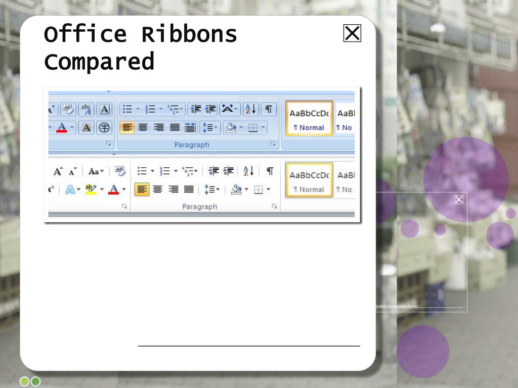Office Ribbons Compared