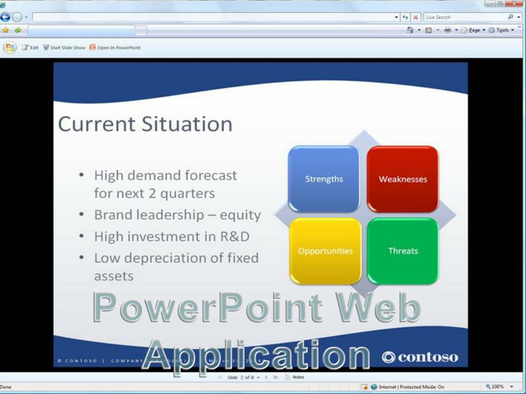 PowerPoint Web Application