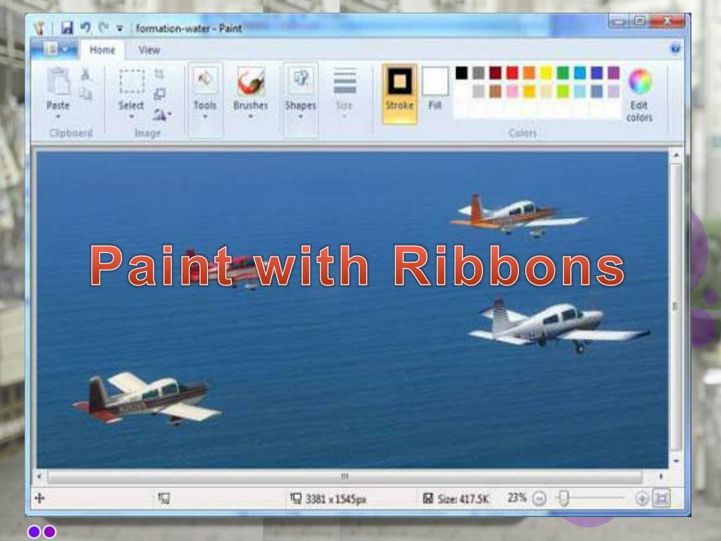 Paint with Ribbons