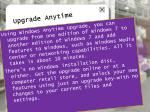 upgrade anytime