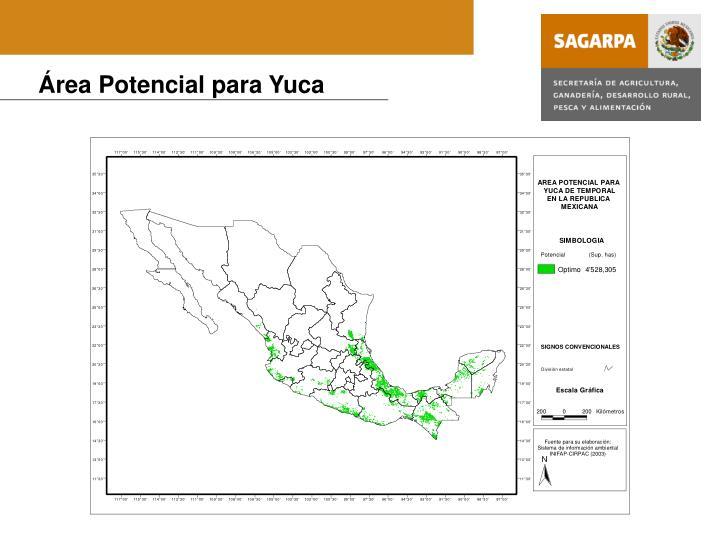 Área Potencial para Yuca