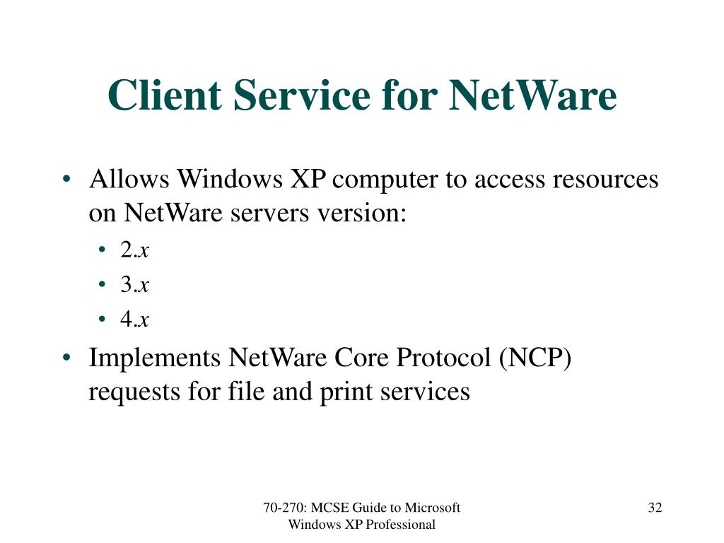 Client Service for NetWare