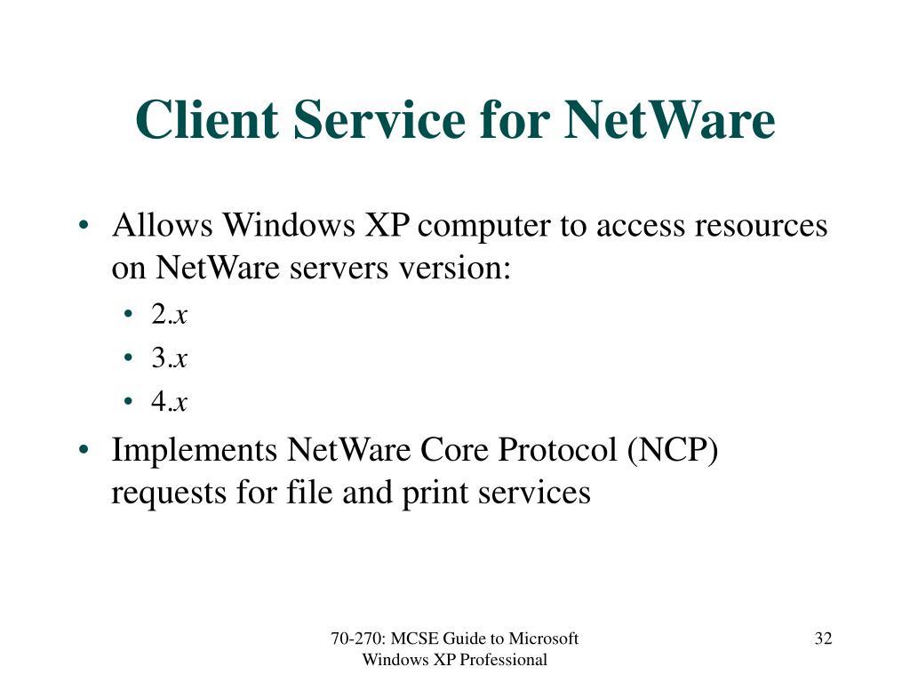 Client Service for NetWare