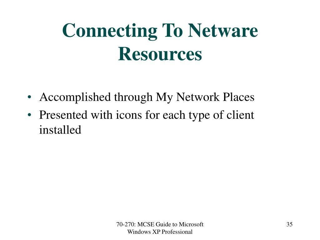 Connecting To Netware Resources