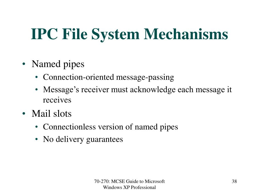 IPC File System Mechanisms