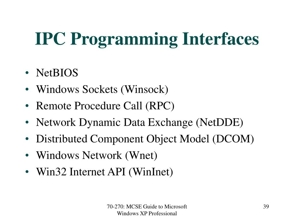IPC Programming Interfaces