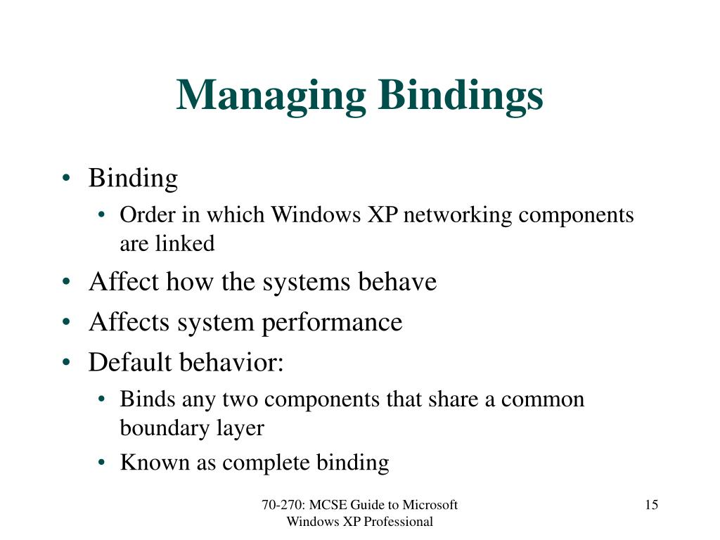 Managing Bindings