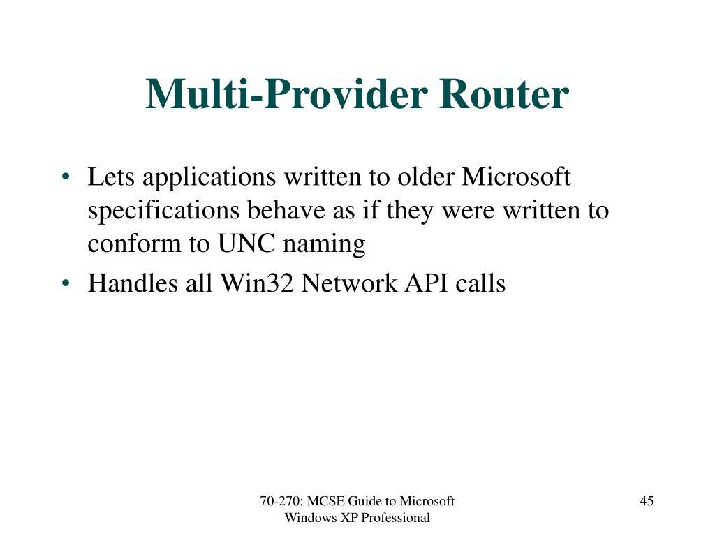 Multi-Provider Router