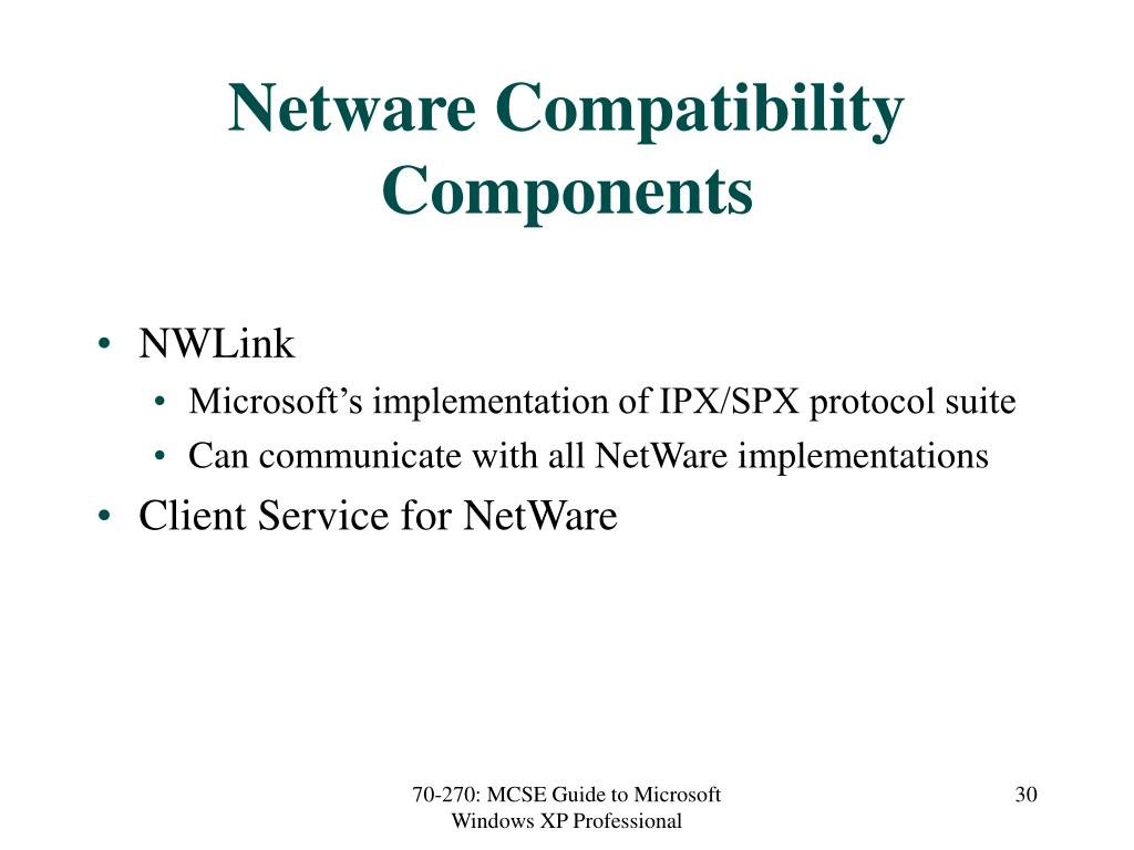 Netware Compatibility Components