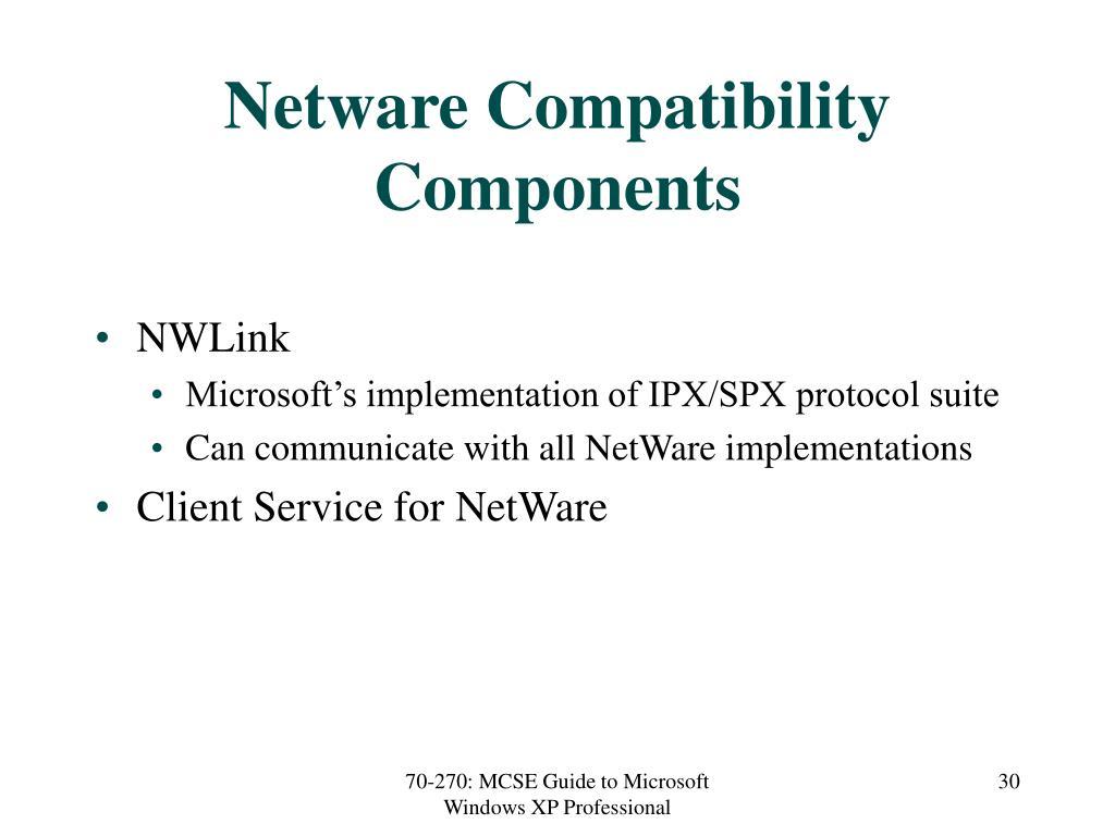 Netware Compatibility Components