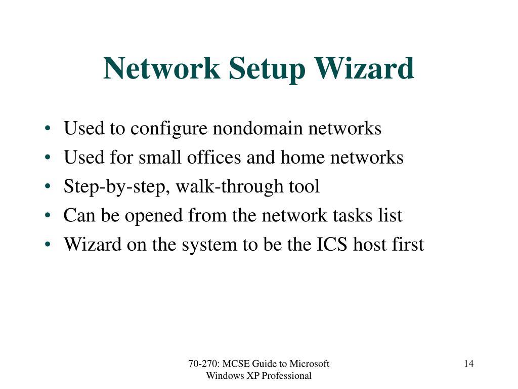 Network Setup Wizard
