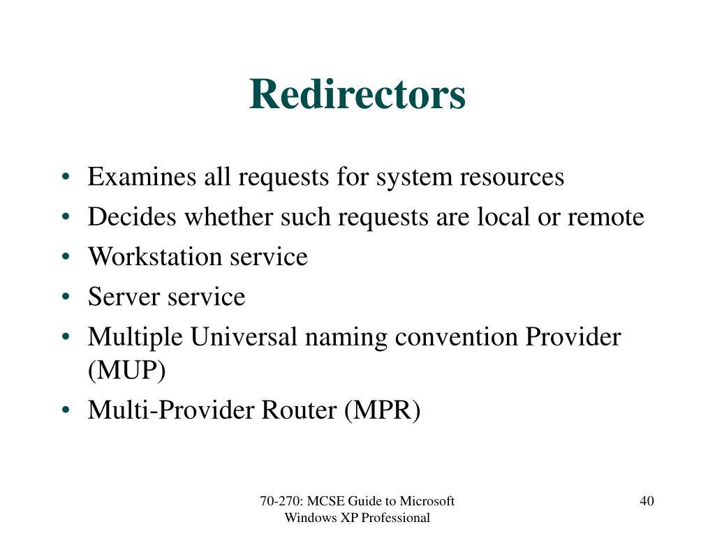 Redirectors