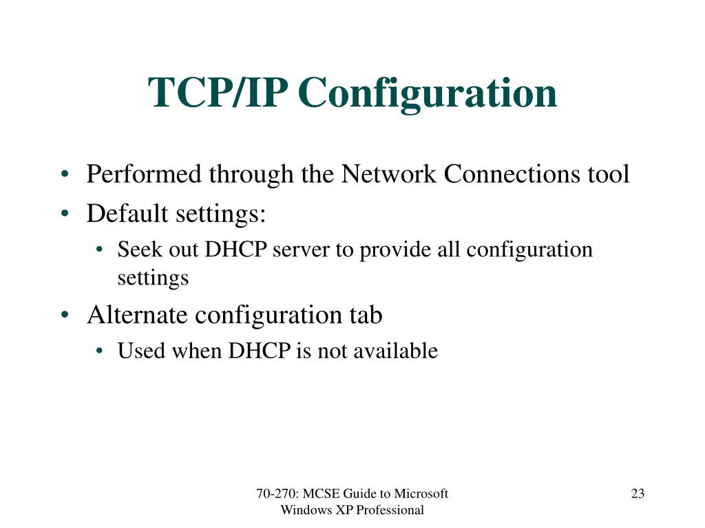 TCP/IP Configuration