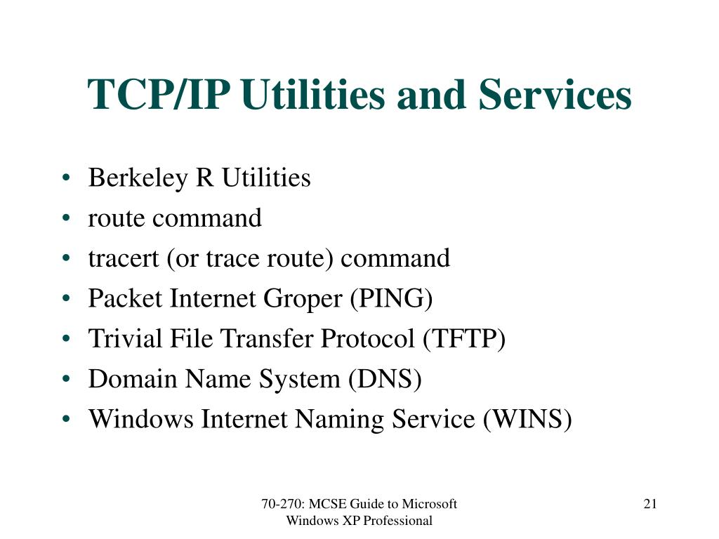 TCP/IP Utilities and Services