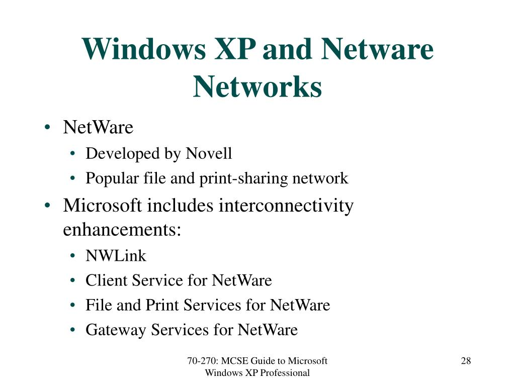Windows XP and Netware Networks