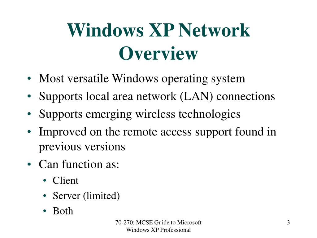 Windows XP Network Overview