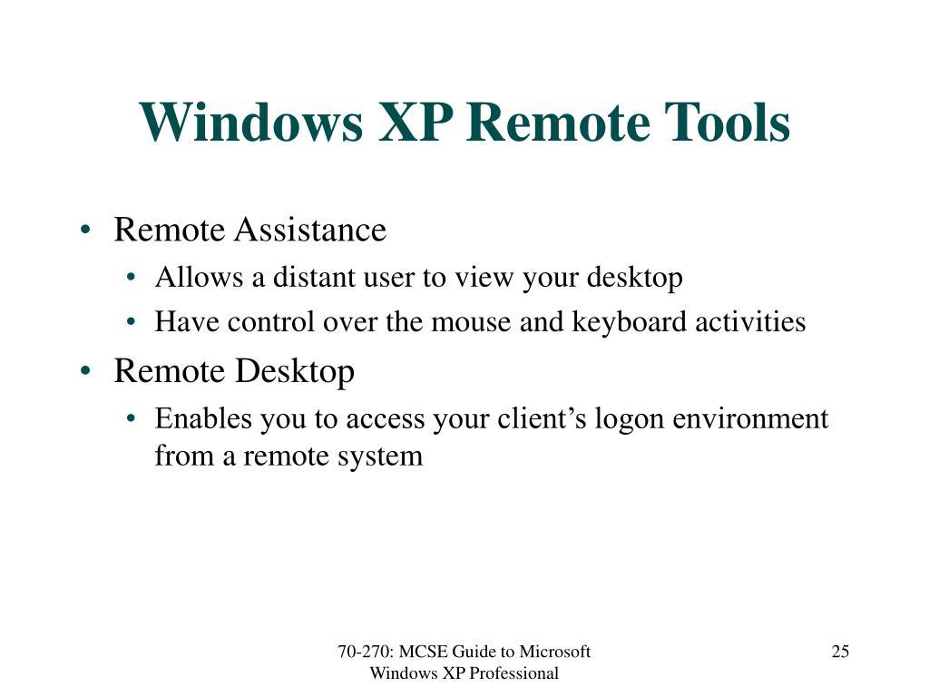 Windows XP Remote Tools