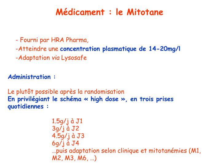Médicament : le Mitotane