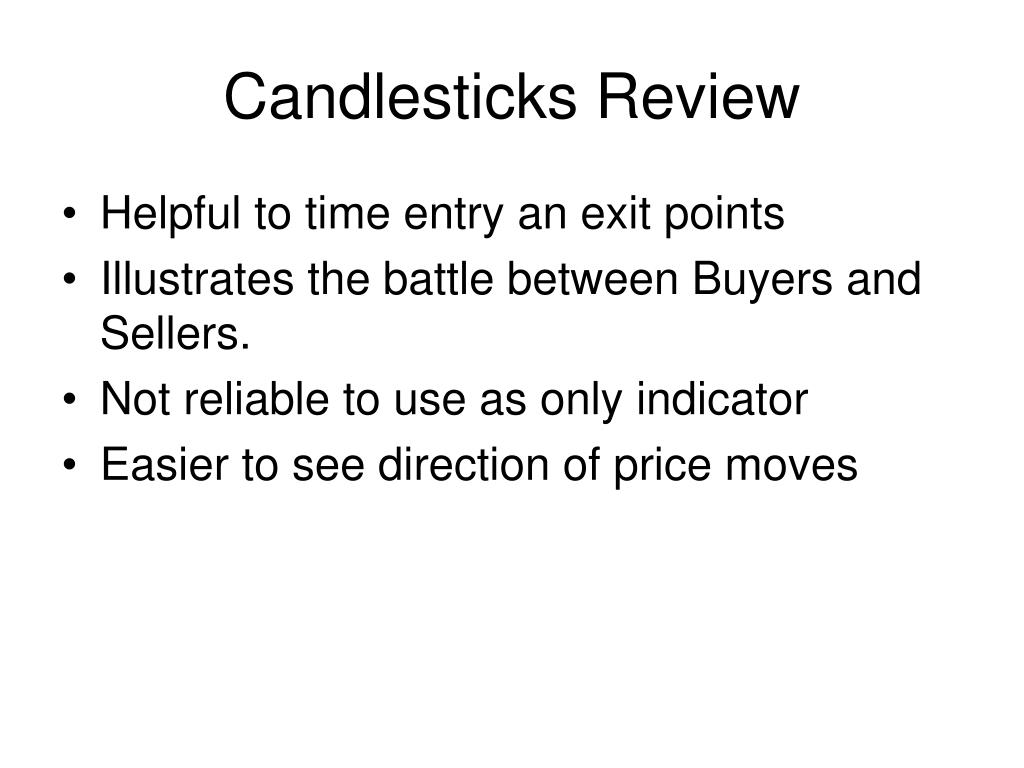 Candlesticks Review