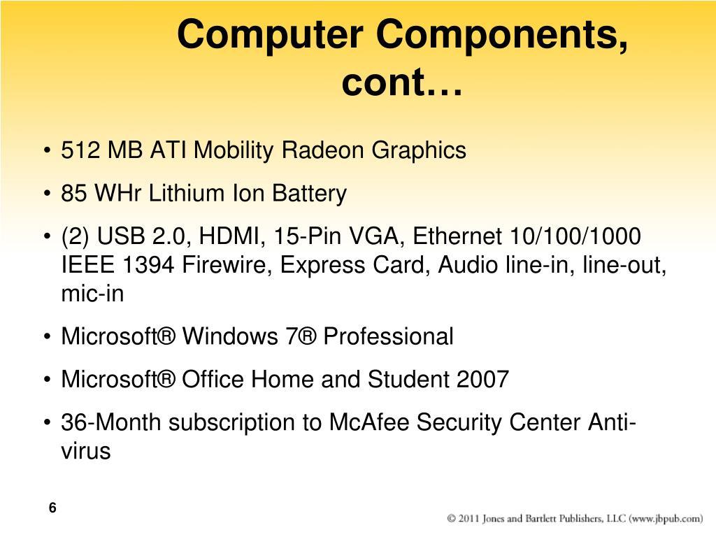 Computer Components, cont…