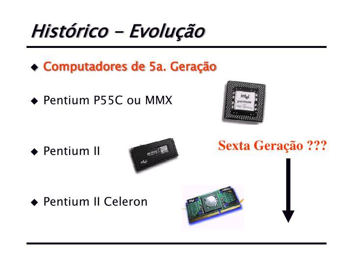 Histórico - Evolução